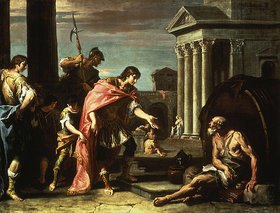 Sebastiano Ricci: Alexander besucht Diogenes