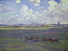 Theo van Rysselberghe: Galopprennen in Boulogne-sur-Mer