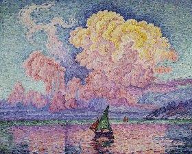 Paul Signac: Die rote Wolke (Antibes)