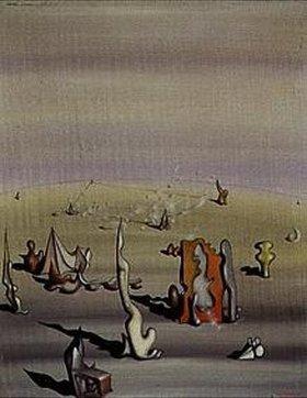 Yves Tanguy: Surrealistische Landschaft. 1945(?)