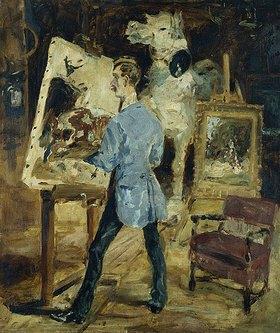 Henri de Toulouse-Lautrec: Der Maler René Princeteau in seinem Atelier. 1881