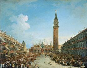 Vincenzo Chilone: Festzug auf der Piazza San Marco in Venedig