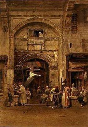 Carl Friedrich Heinrich Werner: In einem ägyptischen Suk