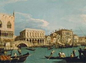Canaletto (Giov.Antonio Canal): Mole und Riva degli Schiavoni vom Bacino di S.Marco aus