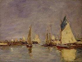 Eugène Boudin: Segelboote im Hafen von Trouville