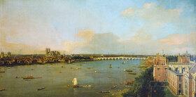 Canaletto (Giov.Antonio Canal): Ansicht von London mit der Themse