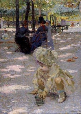 Henri Edmond Cross: An einem August-Nachmittag im Jardin de Luxembourg