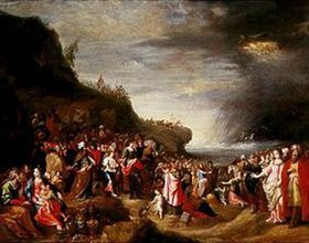 Frans Francken II.: Die Kinder Israel an den Ufern des Roten Meeres