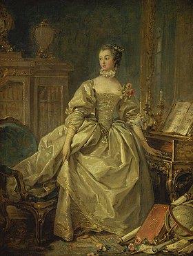François Boucher: Die Marquise de Pompadour am Spinett