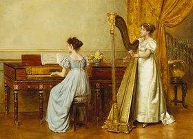 George Goodwin Kilburne: Zwei musizierende Frauen (Das Musikzimmer)