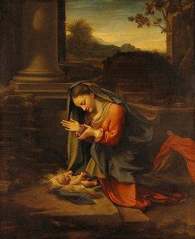 Correggio (Antonio Allegri): Die Madonna betet das Christkind an