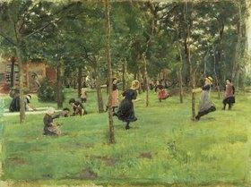 Max Liebermann: Spielende Kinder im Park