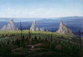 Carl Gustav Carus: Die Dreisteine im Riesengebirge
