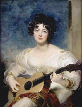 Sir Thomas Lawrence: Lady Wallscourt beim Musizieren, Bildnis