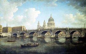 William Marlow: London, Blick auf Blackfriars Bridge und St.Paul Cathedral