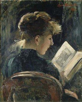Lovis Corinth: Lesendes Mädchen