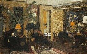 Edouard Vuillard: Der Salon (Le Salon aux Trois Lampes, Rue St. Florentin)