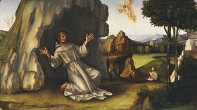 Francesco (Raibolini) Francia: Der hl. Franz von Assisi erhält die Wundmale