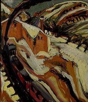 Ernst Ludwig Kirchner: Bahnhof von Königstein im Schnee