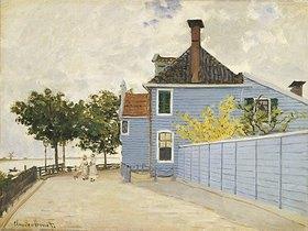 Claude Monet: The Blue House, Zaandam. La Maison Bleue, Zaandam.  Claude Monet (1840-1926).  Oil On Canvas