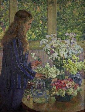 Theo van Rysselberghe: Beim Arrangieren der Gartenblumen