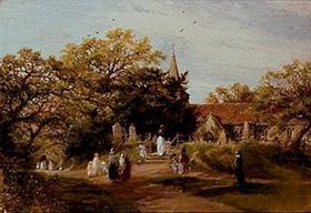 Charles James Lewis: Kirchgang in New-Forest (Brockenhurst)