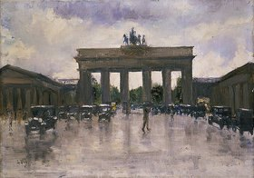 Lesser Ury: Das Brandenburger Tor in Berlin
