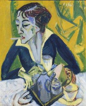 Ernst Ludwig Kirchner: Erna mit Zigarette