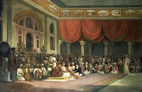 Thomas Daniell: Vertragsschluss zwischen Charles Warre Malet und dem Prinzen von Maratha 1790 in Durbar
