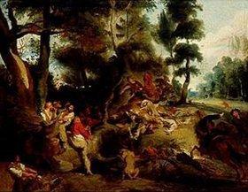 Eugene Delacroix: Die Sauhatz