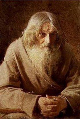 Iwan Kramskoi: Bildnis eines alten russischen Bauern