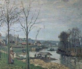 Camille Pissarro: Das Wäscher-Häuschen in Port-Maly (Pontoise)