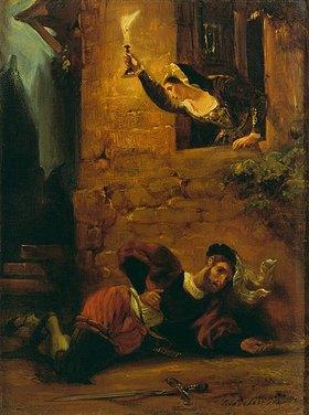 Eugene Delacroix: Der sterbende Valentin