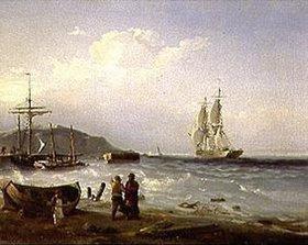 Alexej Petrowitsch Bogoljubov: In der Bucht von Kronstadt (Russland)