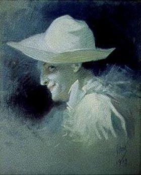 Jules Cheret: Bildnis des Schauspielers Georges Wague als Pierrot