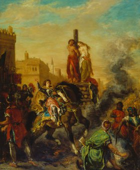 Eugene Delacroix: Clorinde befreit Olindo und Sofronia vom Scheiterhaufen