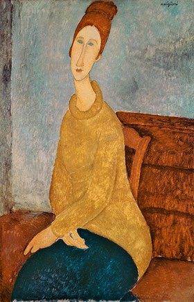 Amadeo Modigliani: Jeanne Hebuterne in einem gelben Pullover