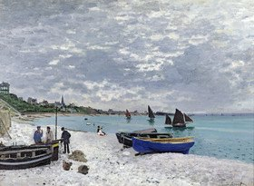 Claude Monet: The Beach at Sainte-Adresse