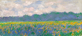 Claude Monet: Field of Yellow Irises at Giverny