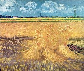 Vincent van Gogh: Weizenfeld mit Garben,  Wheatfield with Sheaves