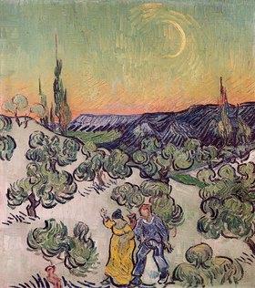 Vincent van Gogh: Landschaft im Mondschein