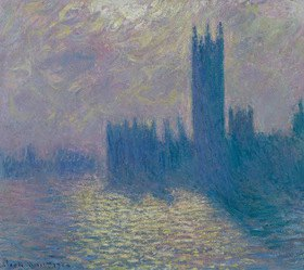 Claude Monet: The Houses of Parliament, Stormy Sky
