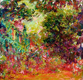 Claude Monet: The Artist's House from the Rose Garden