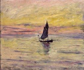 Claude Monet: Segelboot, Abendstimmung