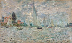 Claude Monet: Die Boote, Regatta at Argenteuil