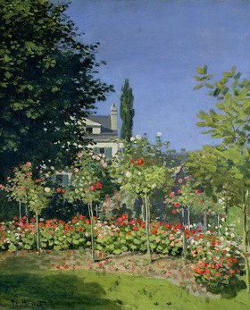 Claude Monet: Flowering Garden at Sainte-Adresse
