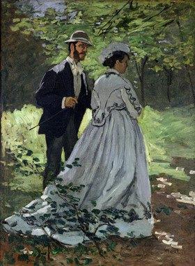 Claude Monet: Die Spaziergänger, Les Promeneurs, 1865