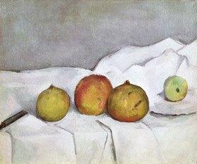 Paul Cézanne: Früchte auf einem Tuch, c