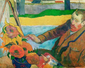Paul Gauguin: Van Gogh painting Sunflowers