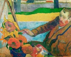 Paul Gauguin: Van Gogh Sonnenblumen malend